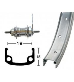 """Rueda Trasera 16"""" Contrapedal Aluminio"""