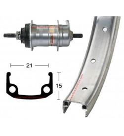 """Rueda Trasera 26"""" 3v Contrapedal Aluminio"""