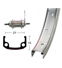 """Rueda Trasera 26""""x1.90 Contrapedal Aluminio"""