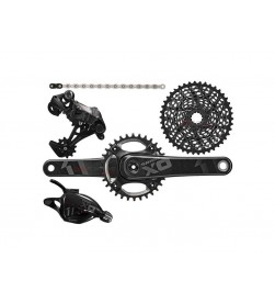 Grupo Completo Sram X01 Mando Trigger Negro (BB30 / GXP)