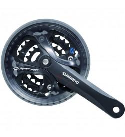 Bielas Shimano Acera FC-M361 Cuadradillo 8v. 175mm 42/32/22 Negro (Con Cubre cadena)