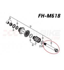 Eje recambio buje trasero Shimano FH-M618/M648/M678 12x142mm