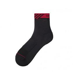 Calcetines medios Shimano Performance Negro/Rojo