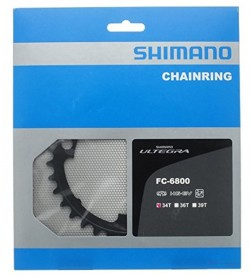 Plato Shimano Ultegra 6800 34dientes (50/34) 2x11v bcd110 4 brazos Negro (compatible FC-5800)