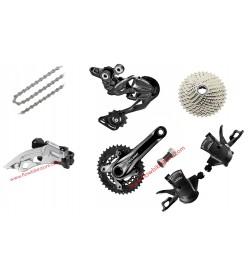 Grupo Completo Shimano Deore Transmisión + Frenos 3x10v