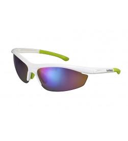 Gafas Shimano S20R Blanco Metálico Verde 2 Lentes