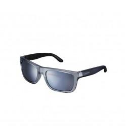 Gafas Shimano S23X Gris Transparente Lente Efecto Espejo Ahumado