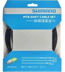 Kit Fundas y Cables de Cambio Shimano MTB SP41 OPTISLIK Negro