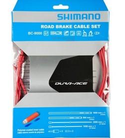 Kit Fundas y Cables de Freno Shimano Dura Ace BC-9000 Rojo