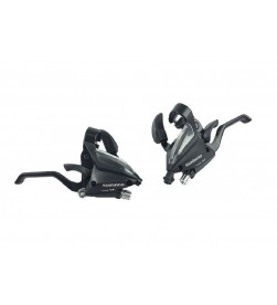 Mandos freno+cambio Shimano ST-EF500 3x8velocidades Negro