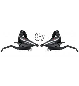 Mandos Cambio Shimano ST-EF65 V-brake 3x8v Negro
