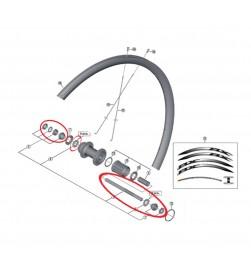 Eje rueda trasera completo carretera Shimano WH-RX010