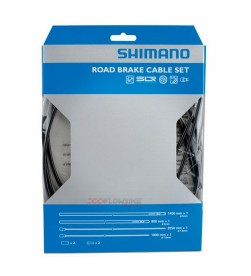 Set Cable y Funda Freno Shimano Carretera Negro