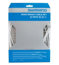 Set Cable y Funda Freno Shimano Carretera Blanco