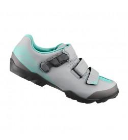 Zapatillas Shimano ME3 Gris/Menta SPD Mujer