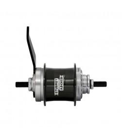 Buje trasero Sturmey Archer Duomatic 2v 36r contrapedal S2C negro