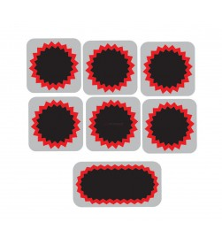 Pack parches TIP TOP 6 redondos 25mm + 1 Rectangular 50x25mm