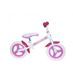 Bicicleta Aprendizaje Correpasillos Fantasy color Blanco Rosa