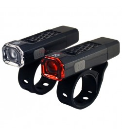 Juego luces UNION 100+101 Li-ion Negro (USB)