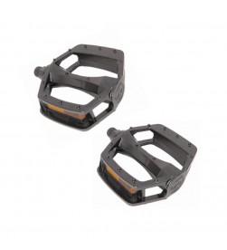 """Pedales Plataforma aluminio Negro 1/2"""""""