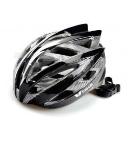 Casco V Bike MTB Negro/Carbono/Plata Talla L (58-61cm)