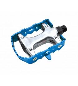 Pedales BTT Fixie Aluminio Colores Azul