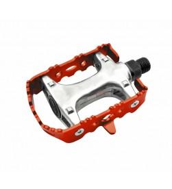 Pedales BTT Fixie Aluminio Colores Rojo