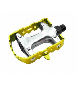 Pedales BTT Fixie Aluminio Colores Amarillo