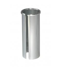 Casquillo tija sillin plateado 27.2mm a 31.6mm 80mm