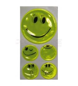 Pegatinas / Adhesivos reflectantes Smily amarillo