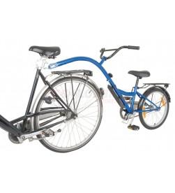 "Remolque-bici niños Trailer Bike 20"" azul RT 28cm"