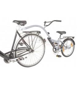 "Remolque-bici niños Trailer Bike 20"" plata RT 28cm"