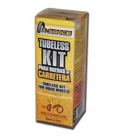 Kit tubeless X-Sauce para ruedas Carretera (2 ruedas) válvula Presta ''fina''