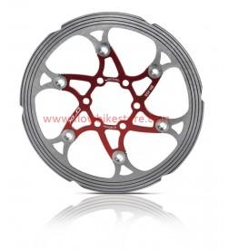 Disco XLC Flotante Refrigerados 160mm Rojo CNC