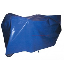 Funda Polietileno Reforzado 200x100cm para tapar bicicletas azul con ojales y bandas