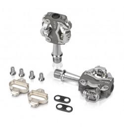 Pedales automáticos XLC PD-S15 gris/plata, bilateral 260grs.