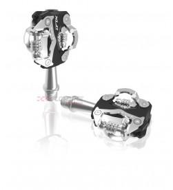 Pedales automáticos XLC PD-S15 negro/plata, bilateral 260grs.