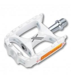 Pedales Plataforma XLC Blancos Cuerpo Magnesio Ultralight