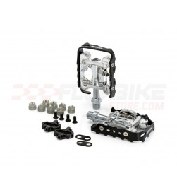 Pedal mixto XLC PD-S02 aluminio negro plataforma + cala SPD