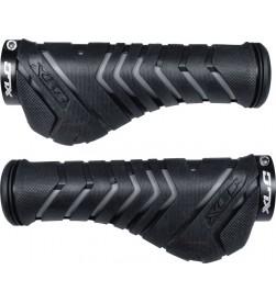 Puños Ergonómicos XLC GR-S30 1 Lock-On Negro/Gris