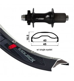 Rueda trasera XLC 27.5+ con Aro Rodi 45mm y eje 12x148mm Boost