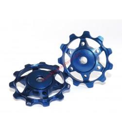 Rulinas XLC PU-A02 Aluminio Colores Rodamiento Sellado 11 Dientes Azul