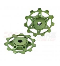 Rulinas XLC PU-A02 Aluminio Colores Rodamiento Sellado 11 Dientes Verde limon