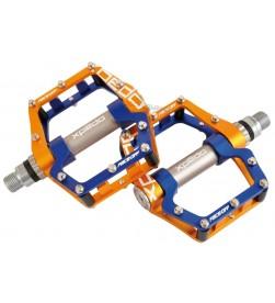 Pedales Plataforma Xpedo FACEOFF Dorado Azul
