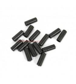 Topes Funda Cambio 4mm plastico Negro (5 uni.)