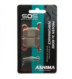 """Pastillas Freno Ashima Sos Doble Compuesto Sinterizadas para """"Shimano XTR/Saint/Deore/SLX/Hone"""""""