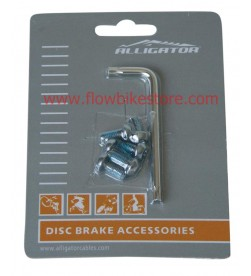 Kit llave torx + 6 tornillos disco Alligator