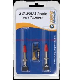 Blister 2 valvulas 1HPR para tubeless Presta