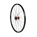 "Front Wheel 1HPR 26"" XC PRO Black / Red 28r QR"