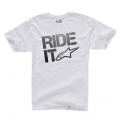 Camiseta Manga Corta Alpinestars Ride It Tech Blanco